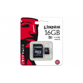 Kingston 16 GB micro sd classe 10 + adaptateur
